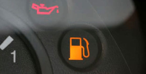 Езда на остатках бензина